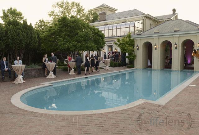 Italian mansion with roman pool