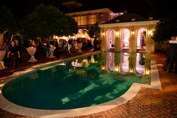 Mansion with pool at night  Free Wednesday and Thursday Night Stay For all 2018 Friday Weddings ...
